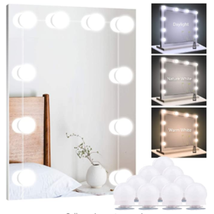 Hollywood Style Dimmable Mirror Lights - best light bulbs for makeup vanity mirror