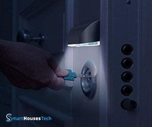 front door lock light - SmartHousesTech