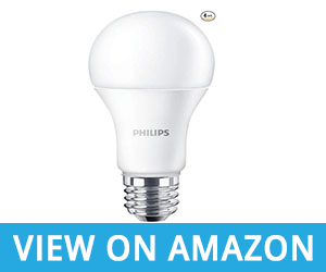Philips Non-Dimmable A19 Frosted LED Light Bulb