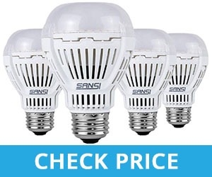 SANSI 16W Non-Dimmable LED Light Bulbs - best lighting for bathroom with no windows