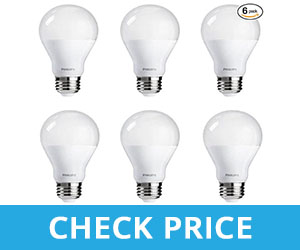 Philips Dimmable Soft White Classic LED Light Bulb - best light bulbs for bathroom makeup