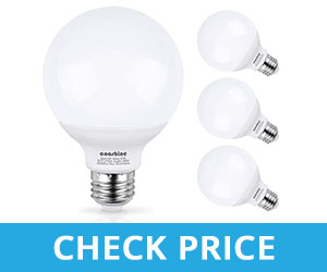 G25 50W Incandescent Soft Warm White Non-Dimmable LED Bulb - vanity light bulbs