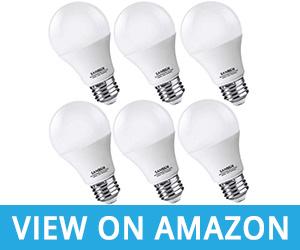 SANSUN A19 LED Bathroom Light Bulbs 60 Watt Equivalent