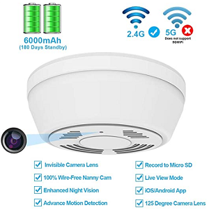 Dummy smoke detector - how to hide a security camera indoors