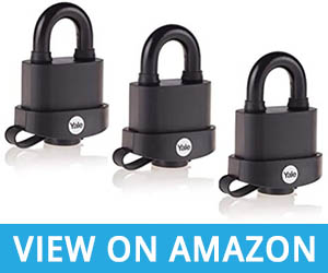 Our Favorite: Yale Y220B/51/118/3 Weatherproof Padlocks with Protective Cover (51 mm)