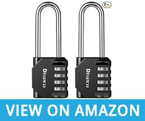 Disecu 4 Digit Combination Lock 2.5 Inch Long Shackle