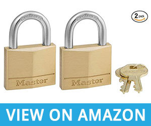 4 - Master Lock 140T Solid Brass Padlock with Key