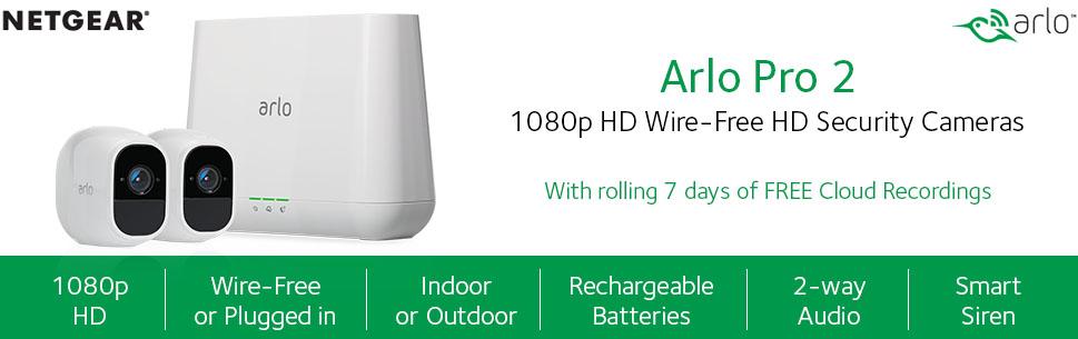 Arlo Pro 2 VMS4230P-100NAR Wireless Home Security Camera