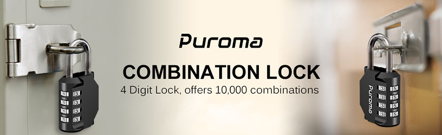 Puroma 2 Pack Combination Lock 4 Digit Outdoor Padlock