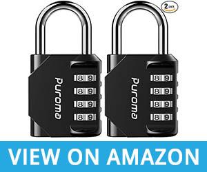 Puroma 2 Pack Combination Lock 4 Digit Outdoor Waterproof Padlock