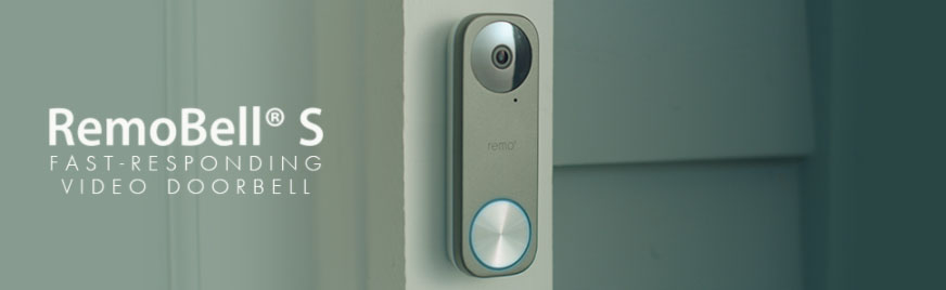 Remo+ RemoBell S WiFi Video Doorbell Camera with HD Video