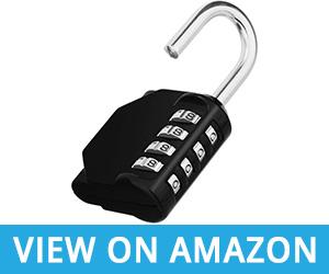 ZHEGE Lock 4 Digit Combination Padlock